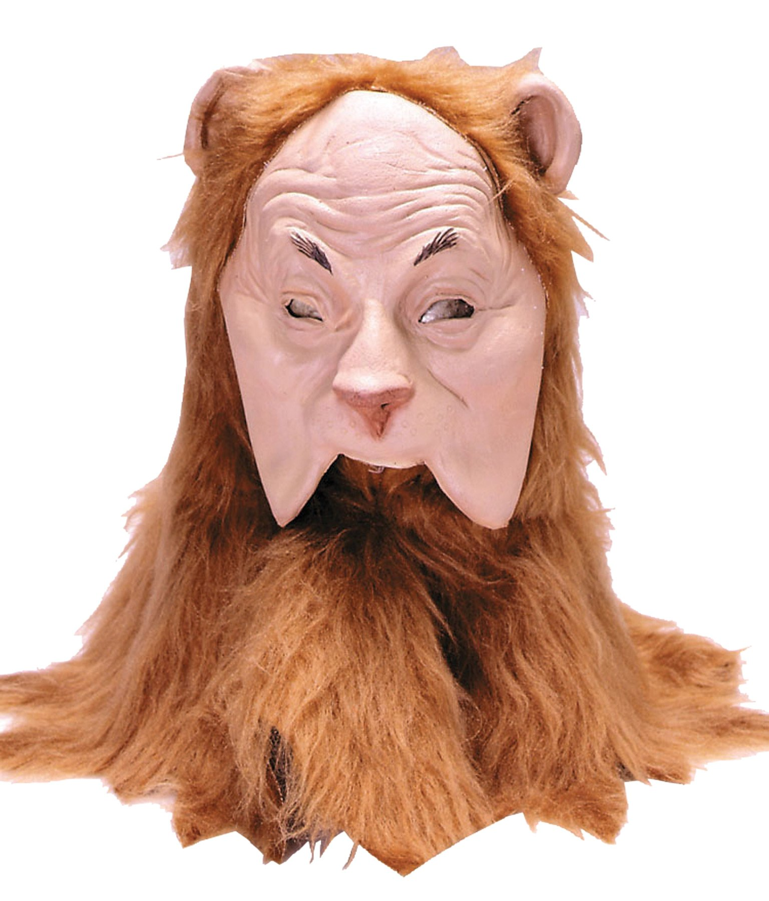 Rubie's Wizard Of Oz Cowardly Lion Mask, Orange/Brown, Adult