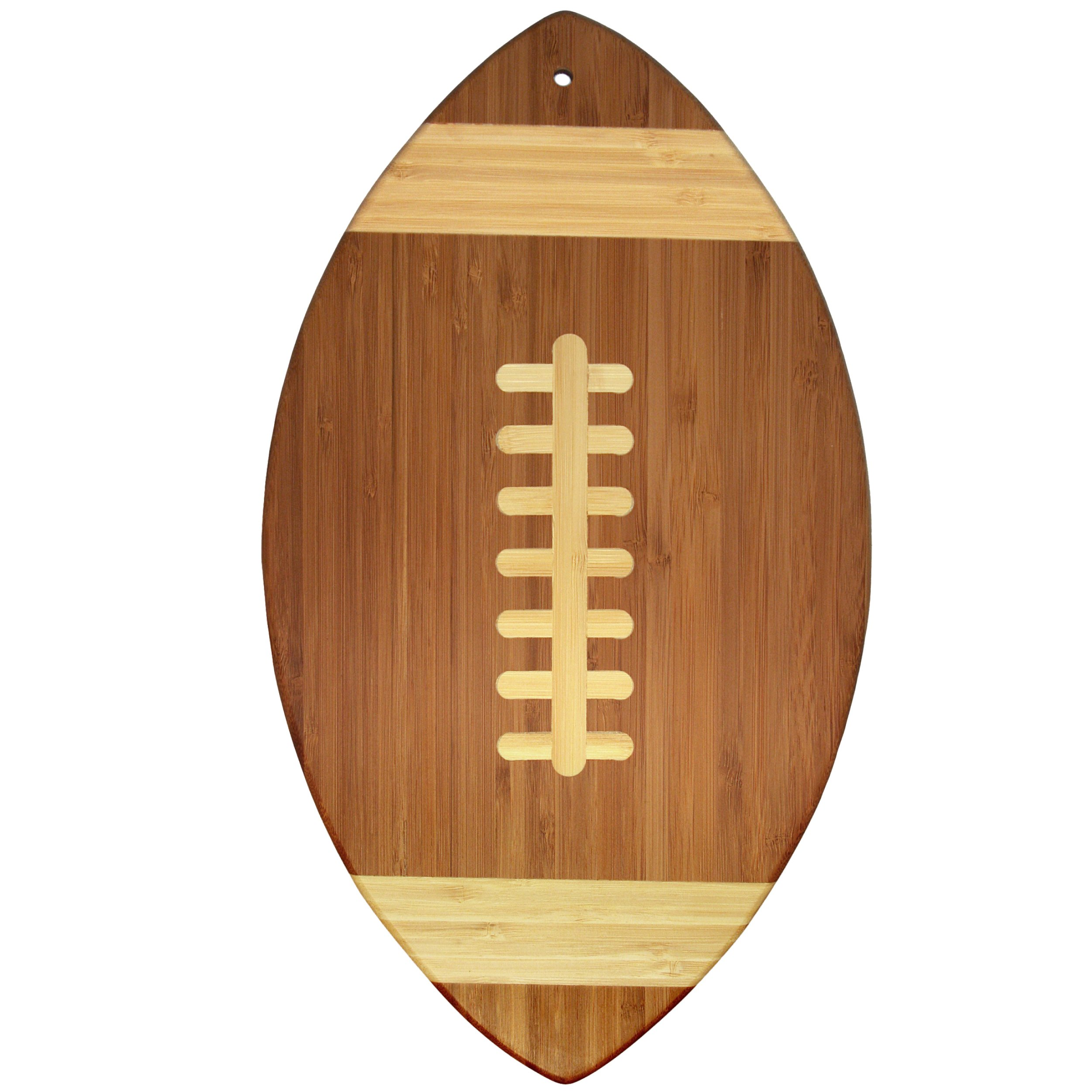 Totally Bamboo Football Shaped Bamboo Serving and Cutting Board, 14'' x 8-1/2''