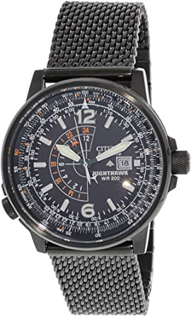 15366c73aab Image Unavailable. Image not available for. Color  Citizen Eco-Drive  Nighthawk Black ...