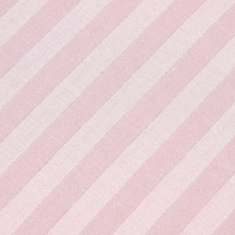 Homescapes Drap Plat Taupe de Luxe avec Rayures Effet Satin pour 1 Personne de 180 x 260 cm en Pur Coton peign/é dEgypte 330 TC qualit/é Percale 130 Fils//cm/²