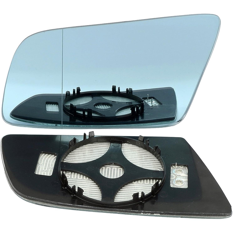 Left passegner side wing door clip on mirror glass Wide Angle Heat