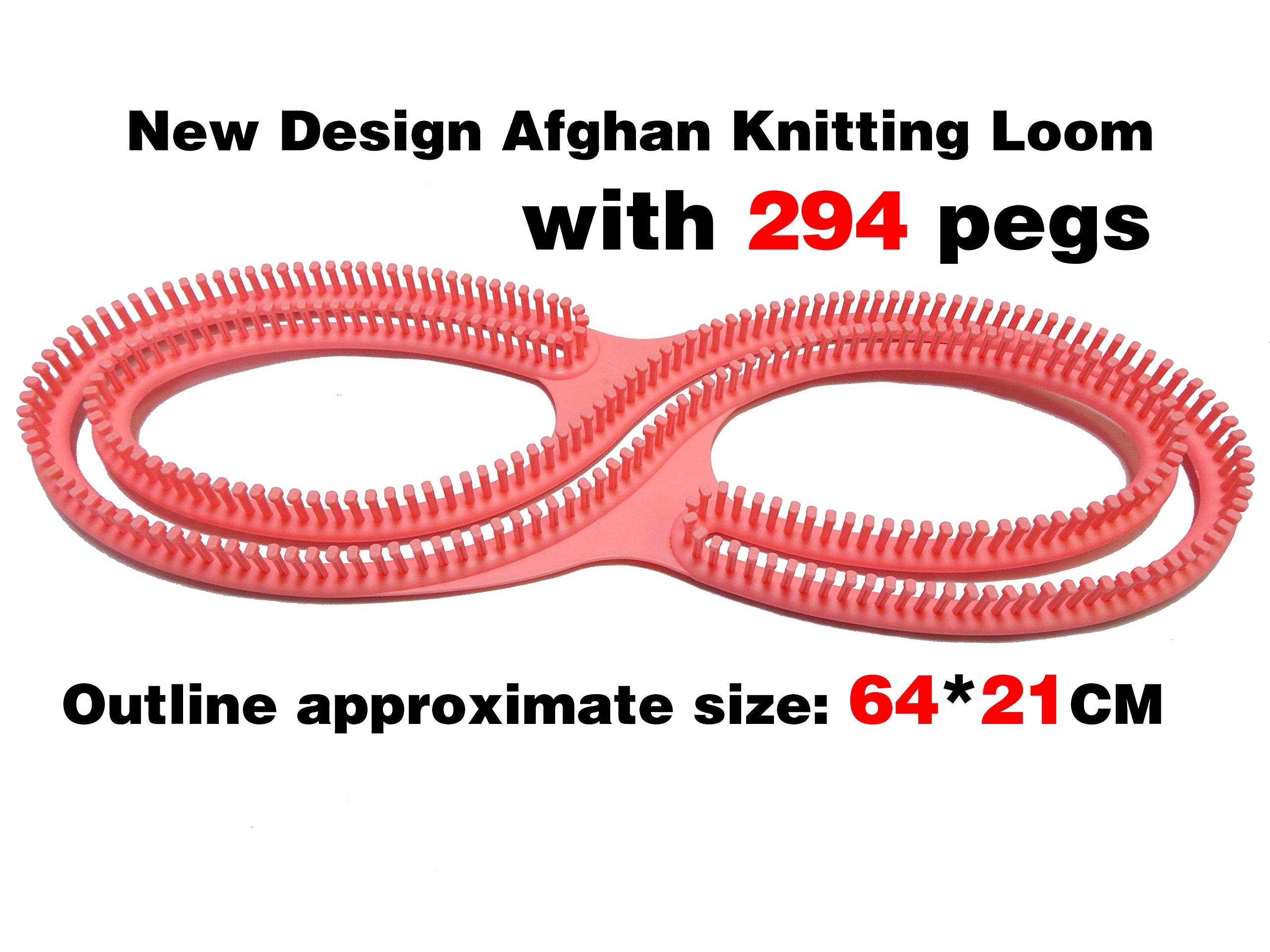 New Design Serenity Loom Afghan Loom Knitting Looms Knitting Board Infinity S Loom with 294 pegs with Crochet Hooks Knitting Needles for Large Projects Shawl/Scarf/Blankets Knitter by ALIMELT (Image #2)