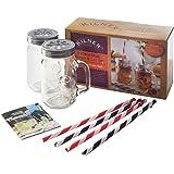 Kilner Mugs & Straw Set, 9 Piece, Multi- Colour