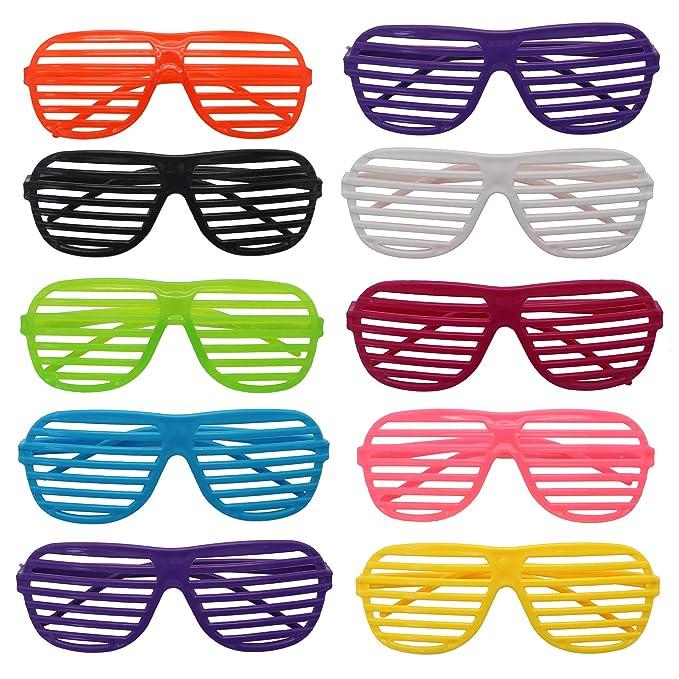 Pack de 6 gafas para fiestas con rejillas.