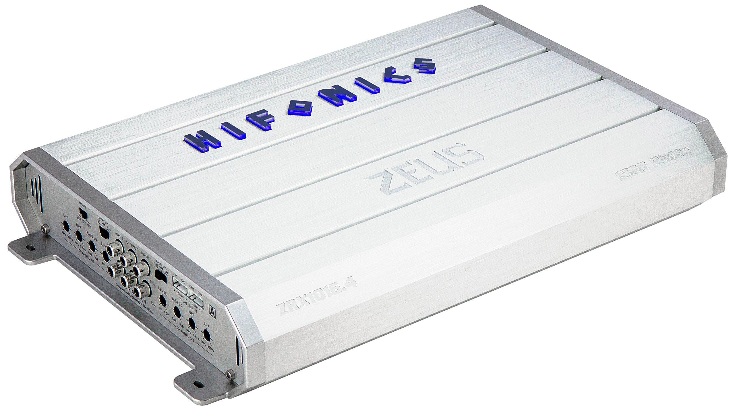 Hifonics ZRX1016.4 Zeus Car Audio Amplifier, 4-Channel 1000-Watt by Hifonics
