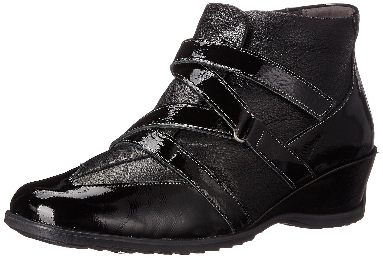 Spring Step Women's Allegra Ankle Bootie B003TVZMA0 37 EU/6.5-7 M US|Black Patent
