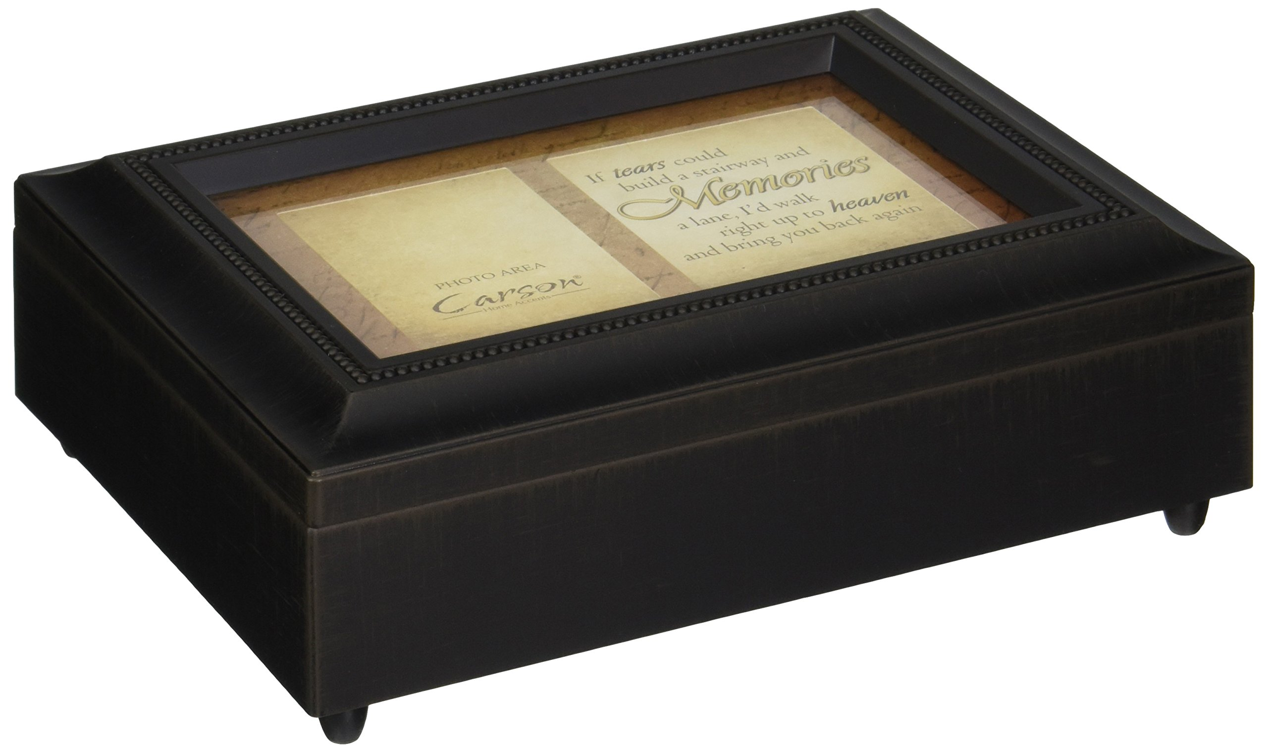 Carson Home Accents 17948 Tears Memories Bereavement Music Box, 8-Inch by 6-Inch by 2-3/4-Inch by Carson