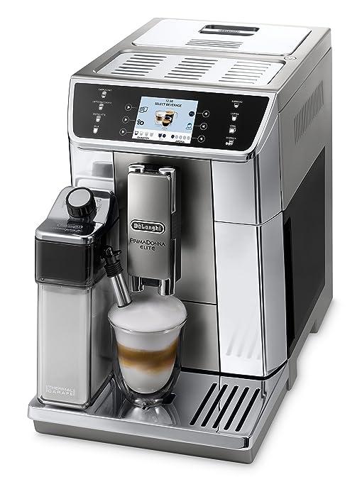 Cafetera automática DeLonghi PrimaDonna Elite ECAM 656.55.MS con pantalla a