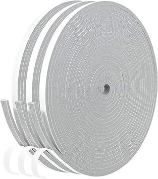 D Shape Foam Self-Adhesive Seal Strip,Weatherproof Soundproof Door Sealing Sticker for Windows Doors Gaps of Anti-Collision and Side Dark Brown