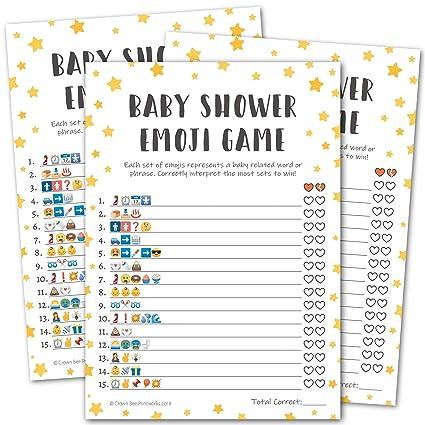 Amazon Com Baby Shower Emoji Pictionary Game Twinkle Twinkle