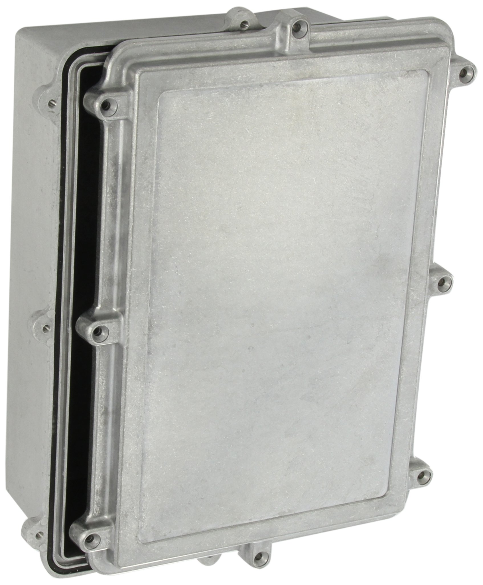 BUD Industries Series IP67 Aluminum NEMA Die Cast Box, 10-19/64'' Length x 7-5/32'' Width x 3-17/32'' Depth, Natural Finish