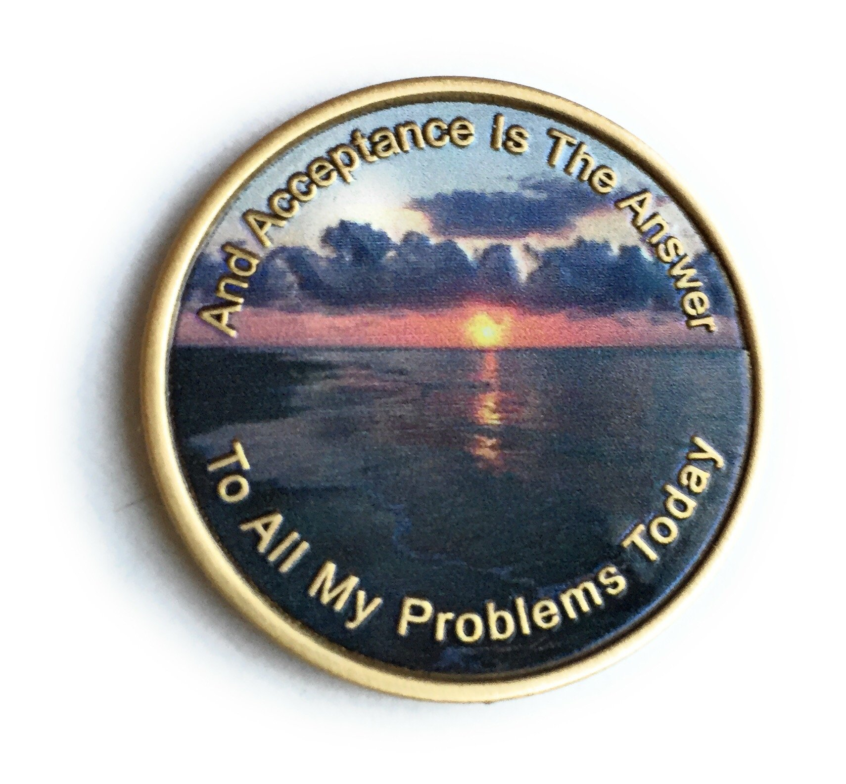 Acceptance Is The Answer Beach Sunrise Color Bronze AA Medallion Chip Page 449 417