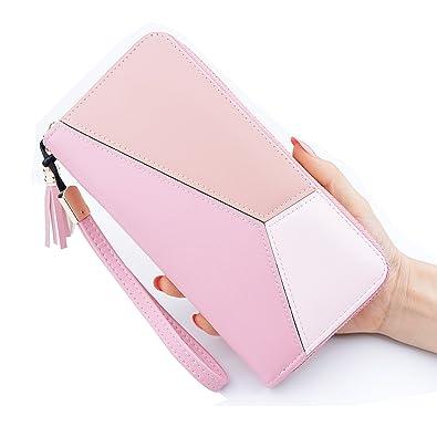 852048dad043 Fonshow 財布 レディース 長財布 ラウンドファスナー カード8枚収納 大容量 人気 多機能