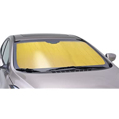 Intro-Tech NS-50-G Custom Fit Windshield Sunshade for Select Nissan Altima Models, Gold