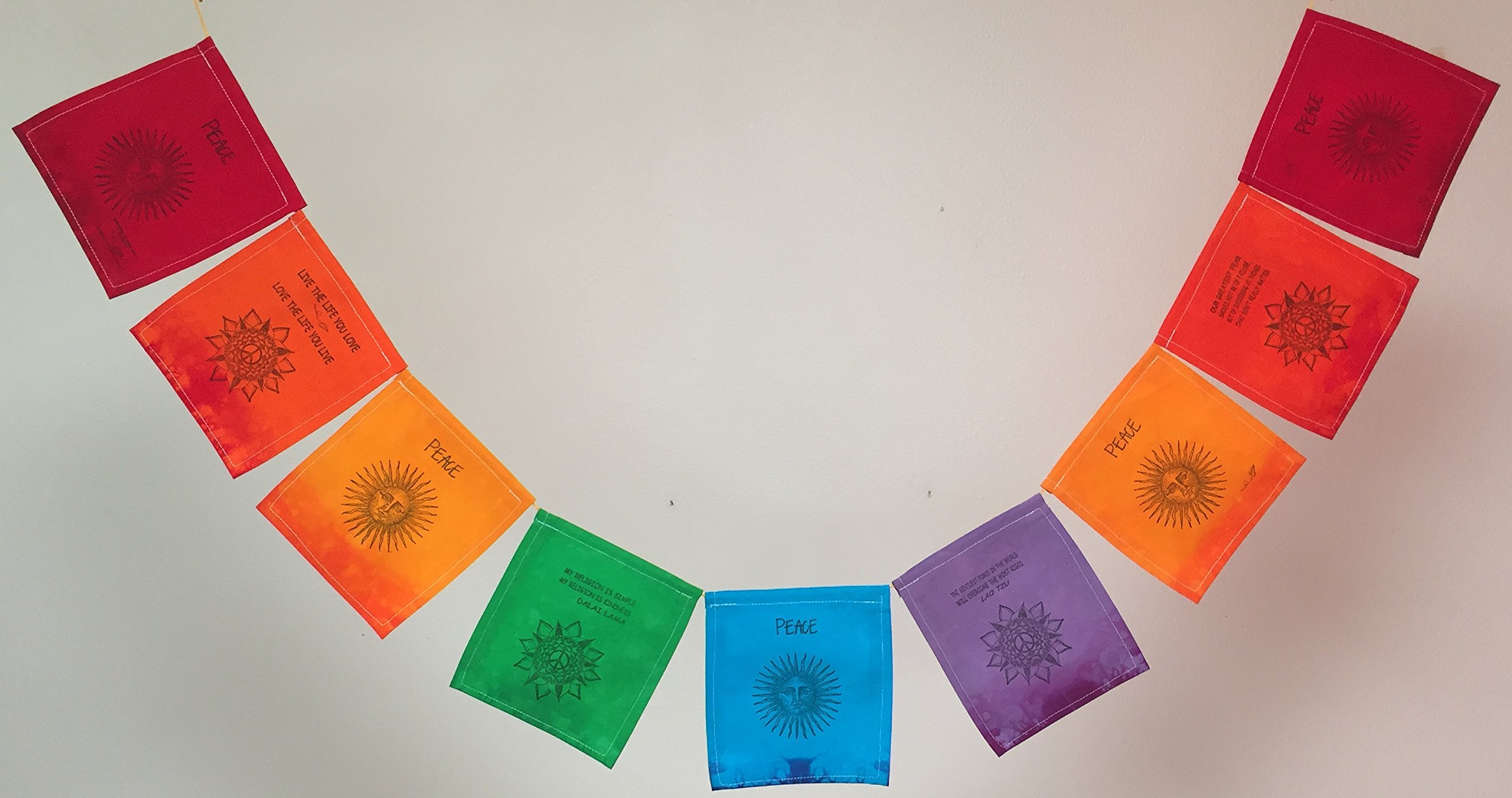 Sun, Peace Prayer Flag (All Proceeds to Families in Mexico) (Free Domestic Shipping)