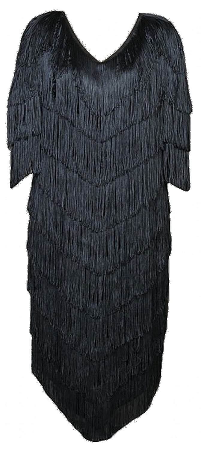 Roaring 20s Costumes- Flapper Costumes, Gangster Costumes Deluxe Plus Size Roaring 20s Flapper Theatrical Quality Costume $319.99 AT vintagedancer.com