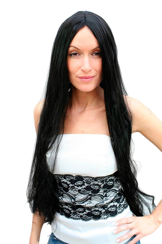 Dj schwarze lange haare