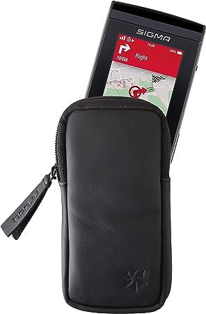 honju Bike - Funda de Piel para Sigma ROX 12.0 Sport GPS (Protector de Pantalla, Bolsillo Interior para Llaves, protección contra arañazos y Suciedad), Color Negro: Amazon.es: Electrónica