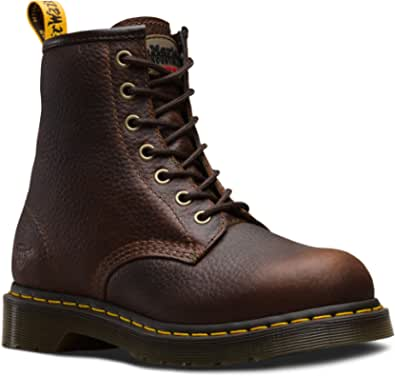 Dr. Martens - Women's Maple Zip Steel Toe Light Industry Boots, DMS Olive Wyoming