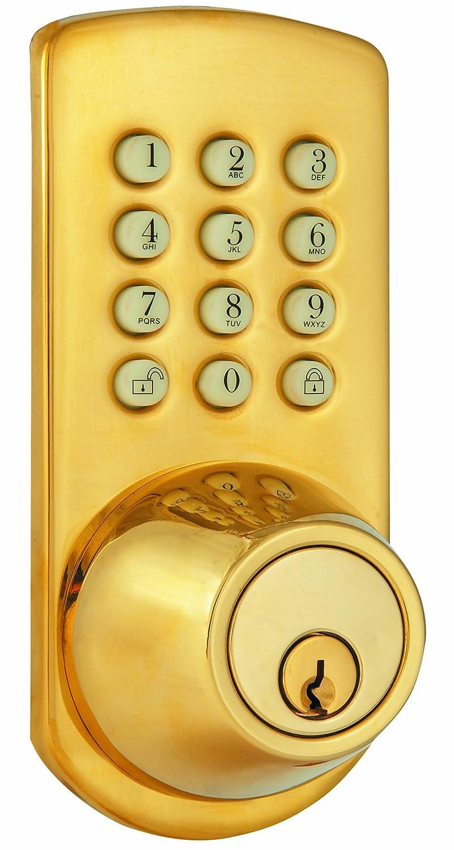 Morning Industry PKF-01P Keypad Deadbolt, Polished Brass