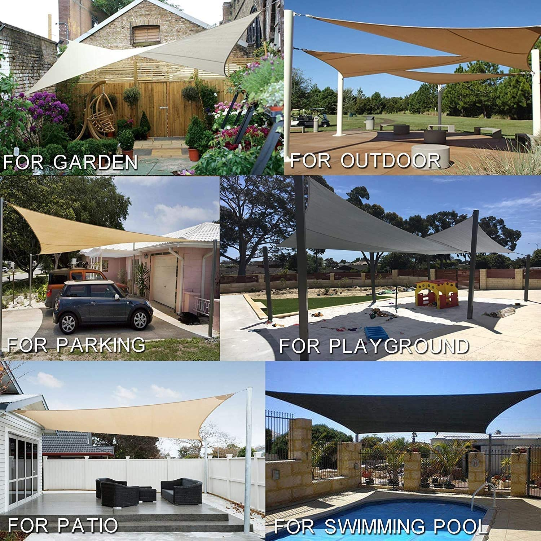 Reforzado con Lona Impermeable de Lona de Vela de Sombra pérgola de Sombra rectangulares for terraza al Aire Libre, jardín, Piscina, SPA (Color : 4, Size : 3 * 4M): Amazon.es: Hogar