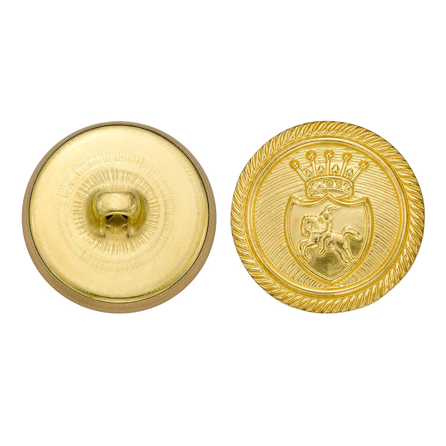 Gold Size 36 Ligne 36-Pack C/&C Metal Products Corp C/&C Metal Products 5312 Royal Horse Crest Metal Button