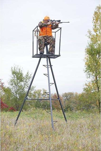 Tripod Deer Stands 13 Foot Hunting Big Game Hunter Ladder Shooting Tree Blind S
