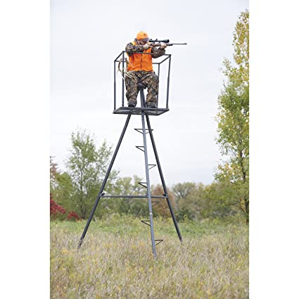 7bf2f562ec0 Amazon.com   Guide Gear 13  Deluxe Tripod Deer Stand   Hunting Tree Stands    Sports   Outdoors