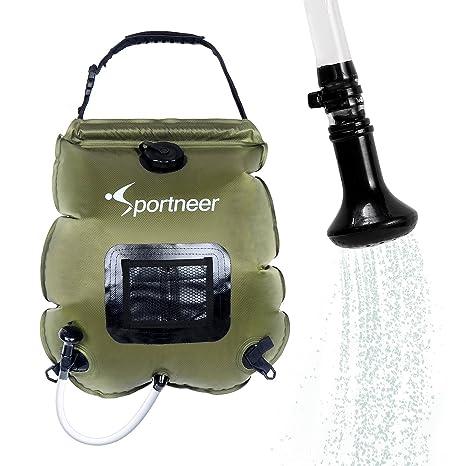c06ecb6d5e6 Sportneer Solar Shower Bag, Summer Camping Shower Bags, Portable for  Outdoor, 5 Gallon