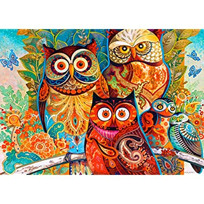 L-Unique jewelry 1000 PCS Jigsaw Puzzles,Animal World,Educational Intellectual Decompressing Fun Game, Funny Puzzles and Rompecazas for Adults, Kids, Teens and Family (Owl): Toys & Games