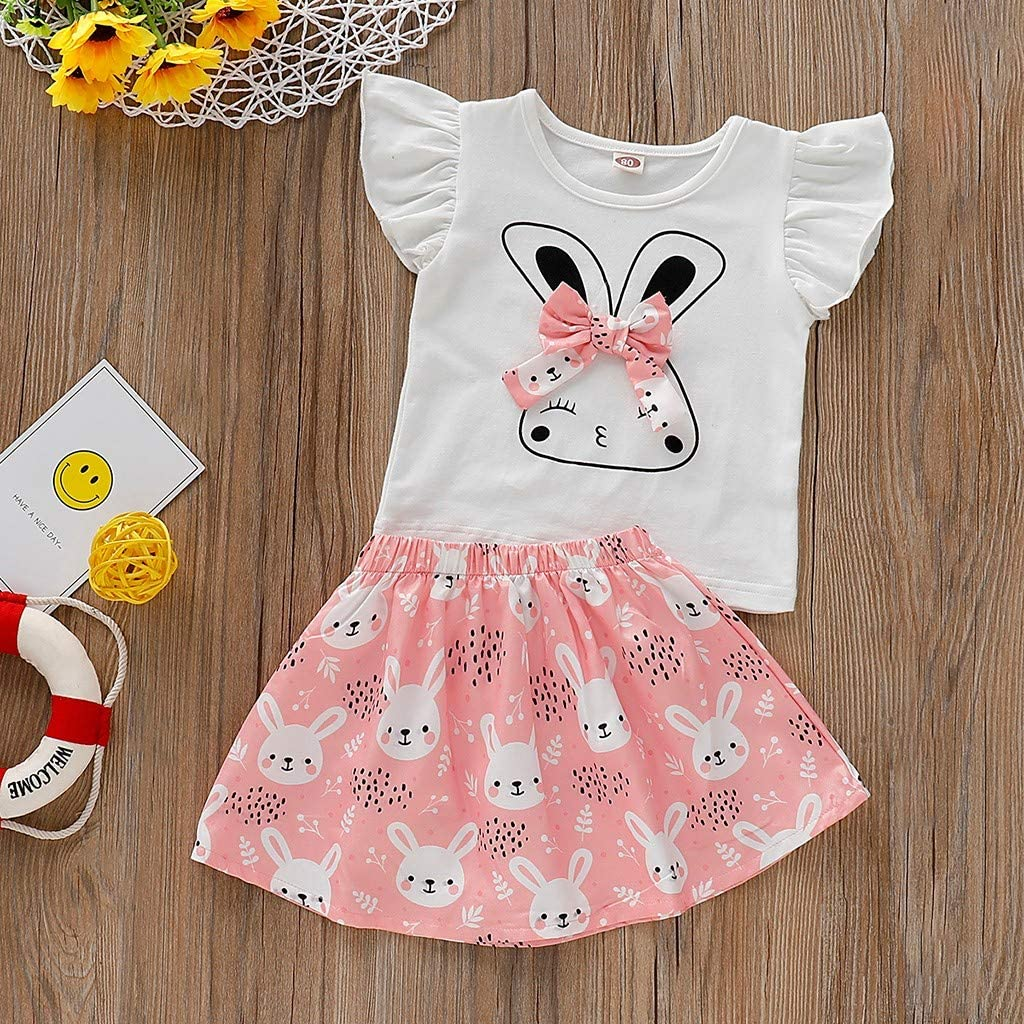 Little Kids Pajamas Sets,Jchen for 0-4 Yrs Baby Kids Boys Girls Cartoon Print Sleeveless Tops Vest Shorts Homewear Outfits