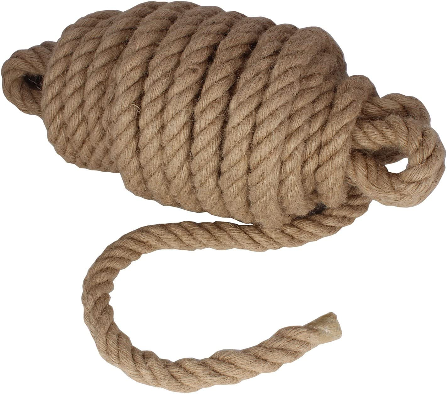 Twisted Manila Rope Jute Rope 50 Feet Natural Jute Twine Hemp Rope 1 Inch Diameter Twine Burlap Rope