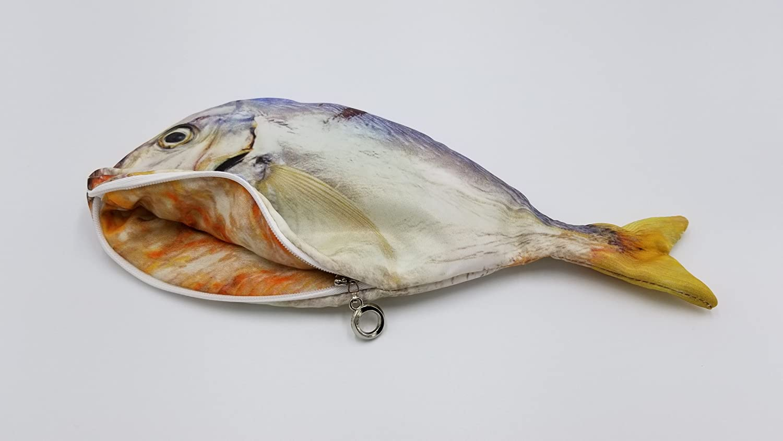 Black Nice Click Real-Like Fish Printed Multi-Purpose Case