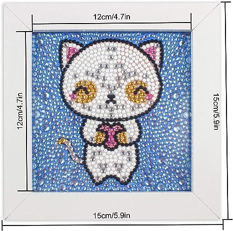 MagiDeal DIY 5D Diamond Painting Rhinestone Cat Family Cross Stitch Kit for Adults 30 x 30cm