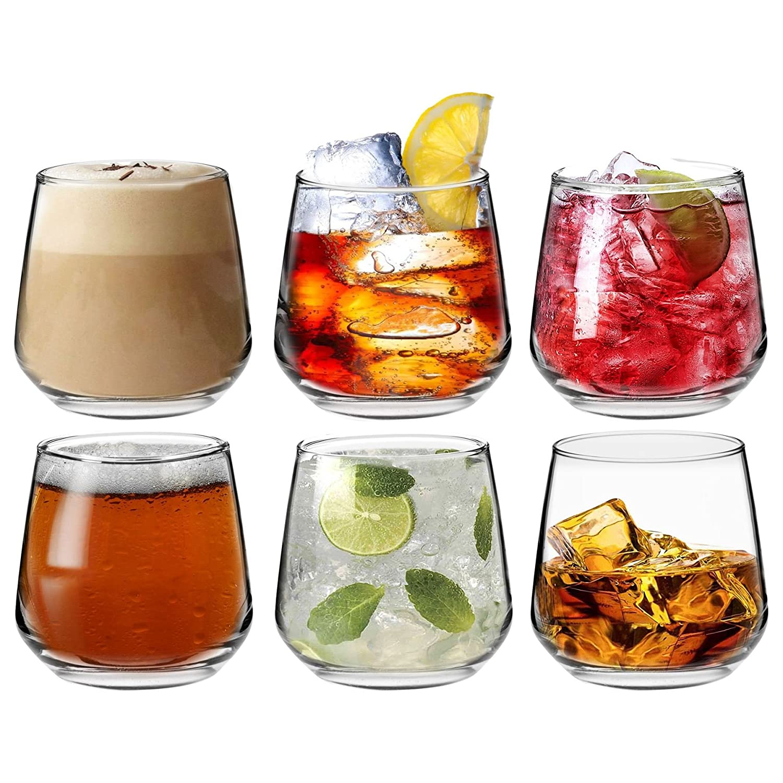 Argon Tableware 'Tallo' Water/Whisky / Juice Tumbler Glasses - Gift Box of 6 Glasses - 345ml (12.1oz)