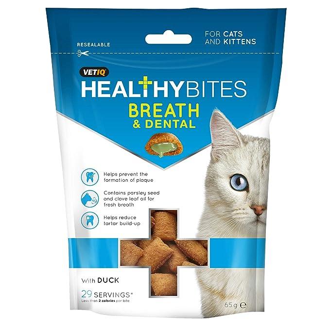 VETIQ Snack Breath And Dental para gatos (65g/Variado ...