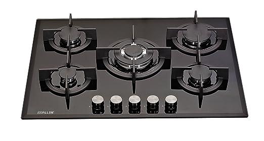 Millar GH7051PB - Placas de horno de cristal templado con 5 ...