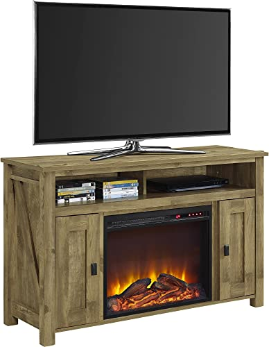 Ameriwood Home Farmington Electric Fireplace TV Console for TVs 50 , Natural