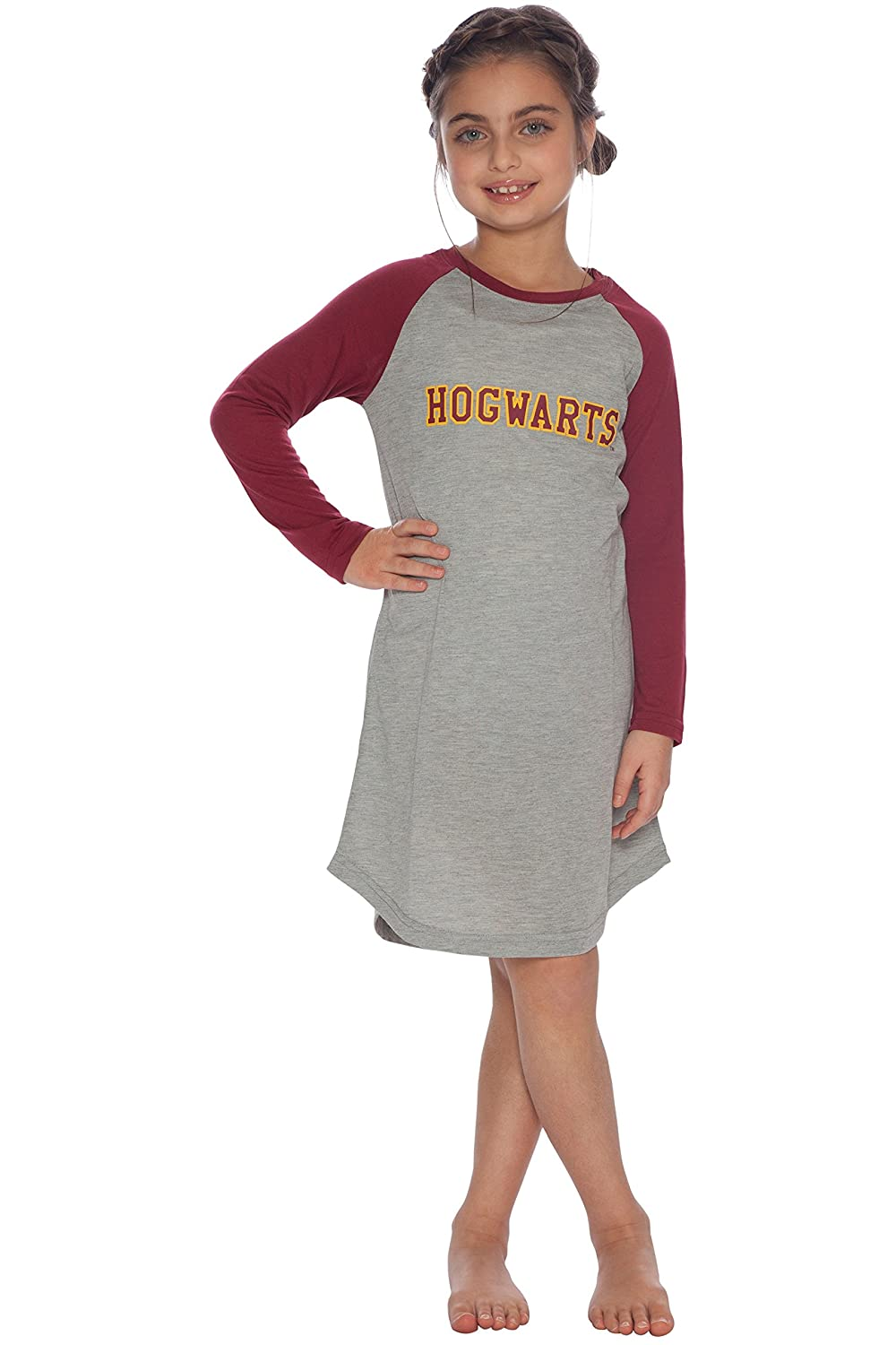 Intimo girls Big Girls Harry Potter L/S Hogwarts Raglan Night Gown Intimo Children' s Apparel 019999G