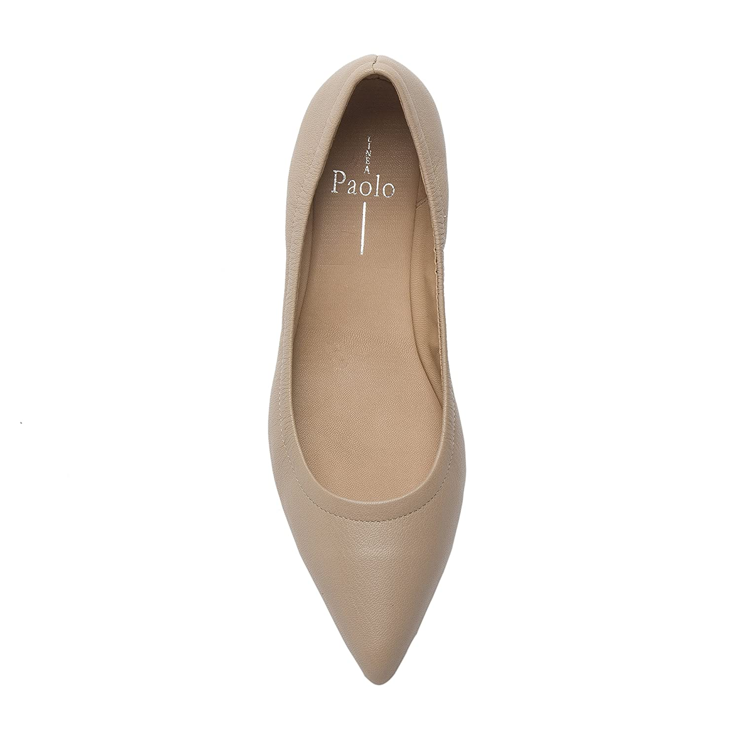 NICO   Women's Pointy Toe Elasticized Leather or Suede Ballet Flat (New Spring) B0778S1FC6 9.5 M US Blush Light Pebbled Leather