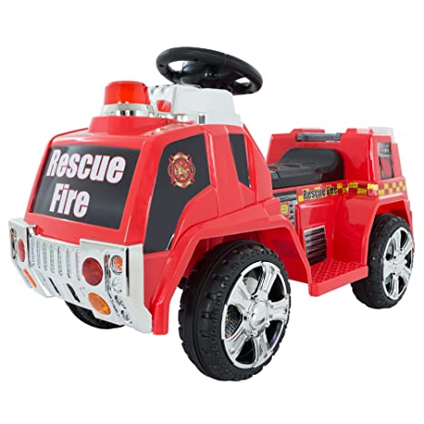 Battery Powered Ride On Toys For Toddlers >> Ride On Toy Fire Truck For Kids Battery Powered Ride On Toy By Lil Rider Toys For Boys And Girls Toddler 5 Years Old