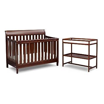 Delta Children Full Size Crib Conversion Rails Espresso Truffle