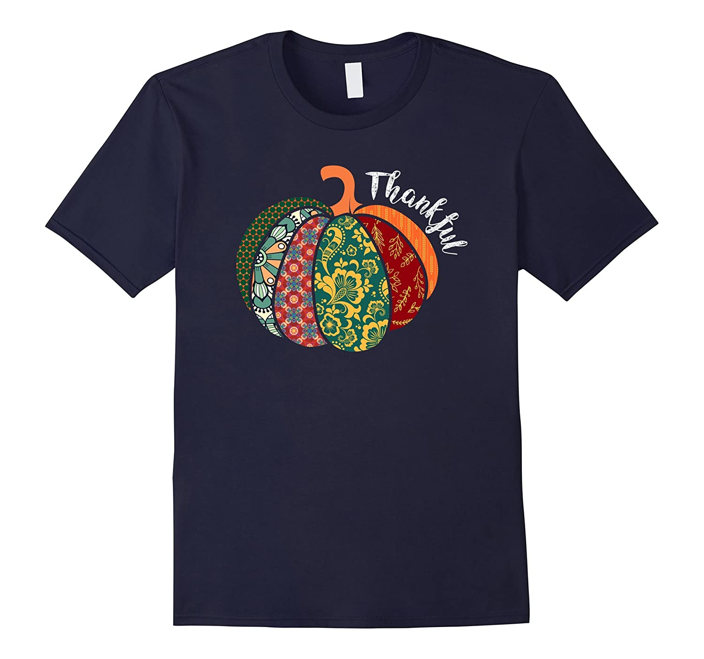 Thankful Pumpkin Fall Tshirt - Perfect For Thanksgiving-FL
