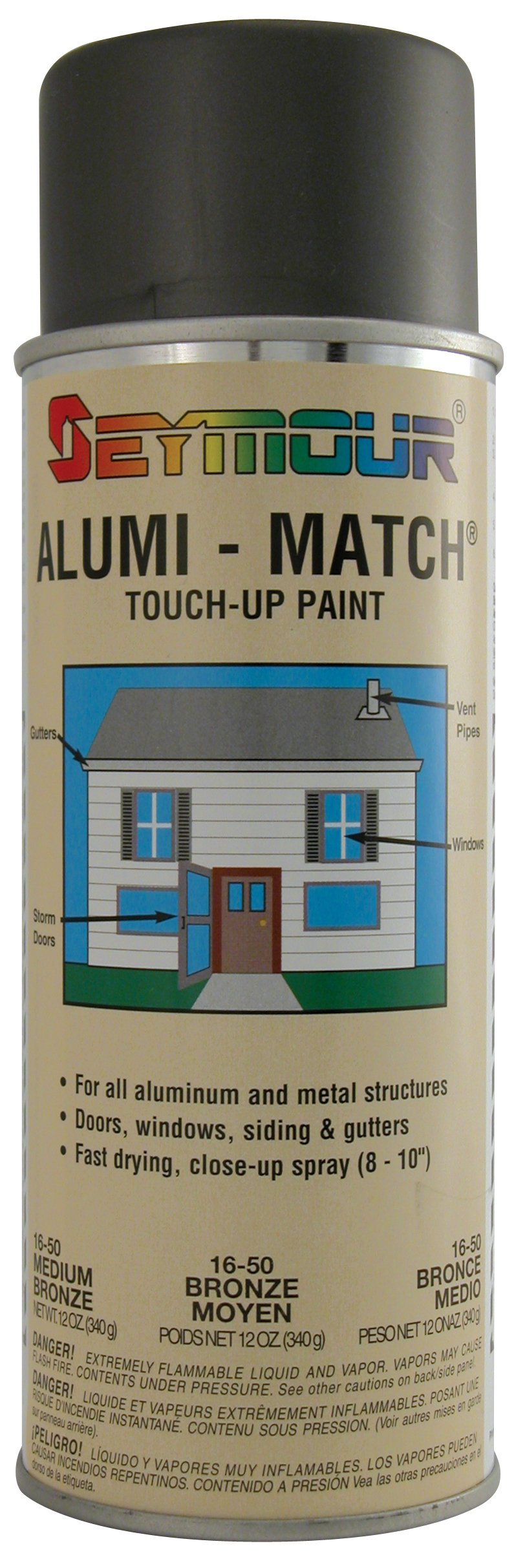Seymour 16-050 Touch-up paint Spray Paint, Bronze