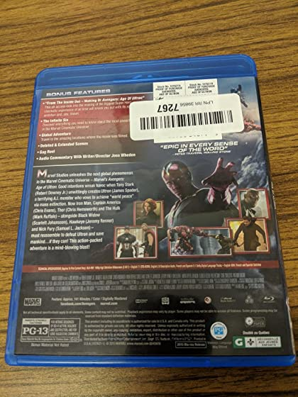 Marvel's Avengers: Age of Ultron(Plus Bonus Features) Not as advertised!