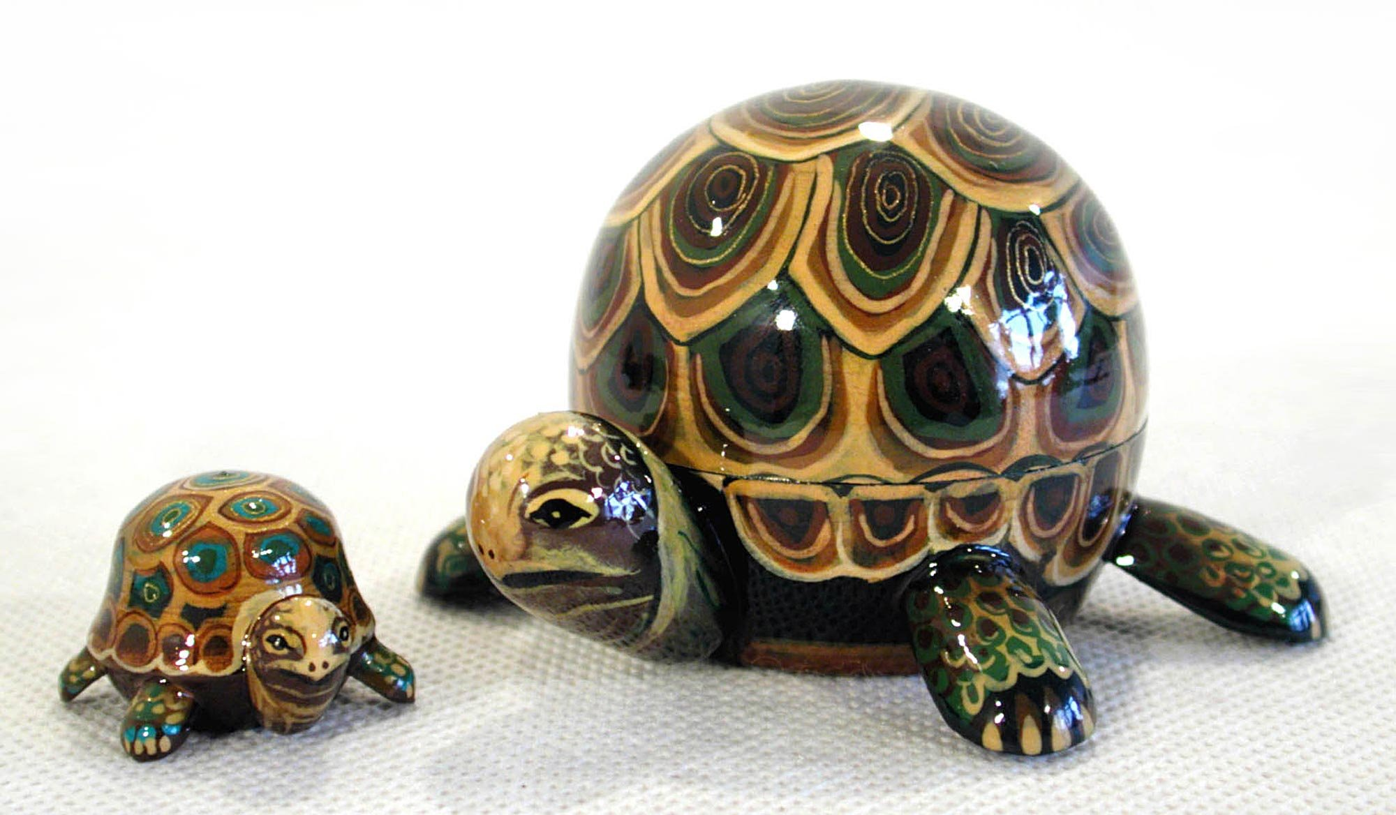 Turtle Nesting Doll 2pc./3''