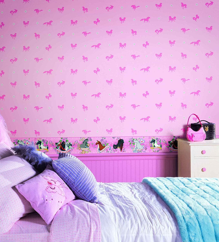 Lilac Bedroom Wallpaper York Wallcoverings Bt2751 Horse Land Wallpaper Bubblegum Pink