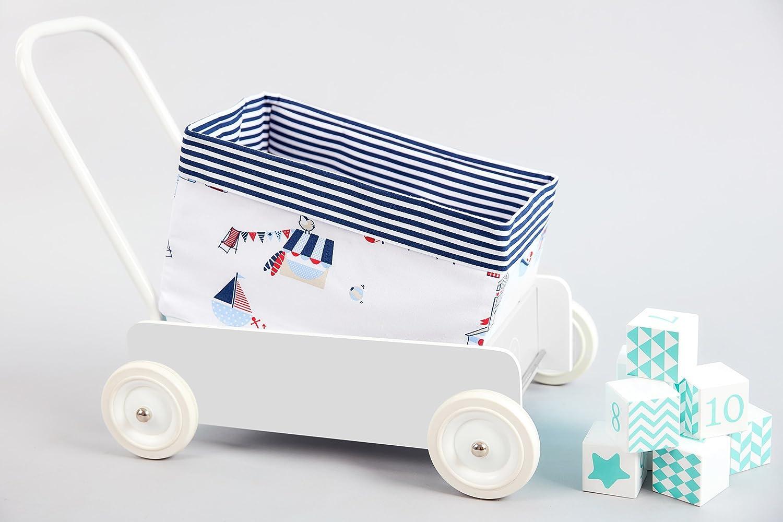 Fuerza Kids cesta casetas de playa y rayas color azul oscuro Talla:Körbchengröße 20 x 20 x 20 cm: Amazon.es: Bebé
