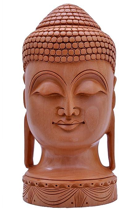 Amazon Com Denika Handicrafts Wooden Buddha Home Kitchen