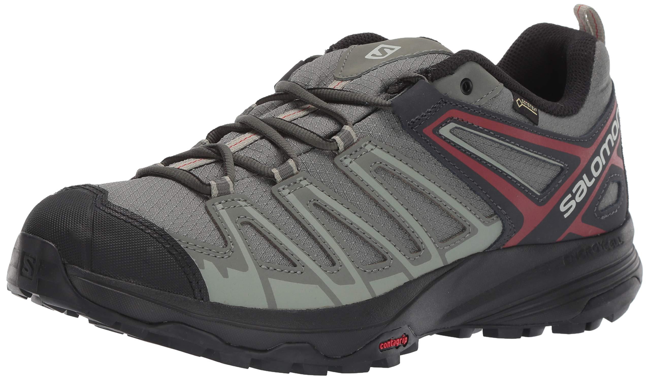 SALOMON Men's X Crest GTX Hiking Shoes, Castor Gray/Shadow/Bossa Nova, 7 by SALOMON